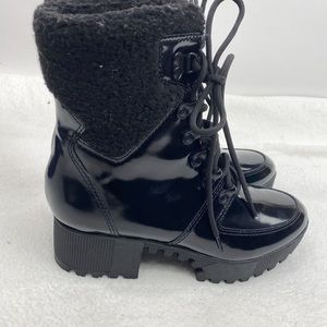 Kendall & Kylie black combat boots